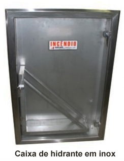 caixa de hidrante inox